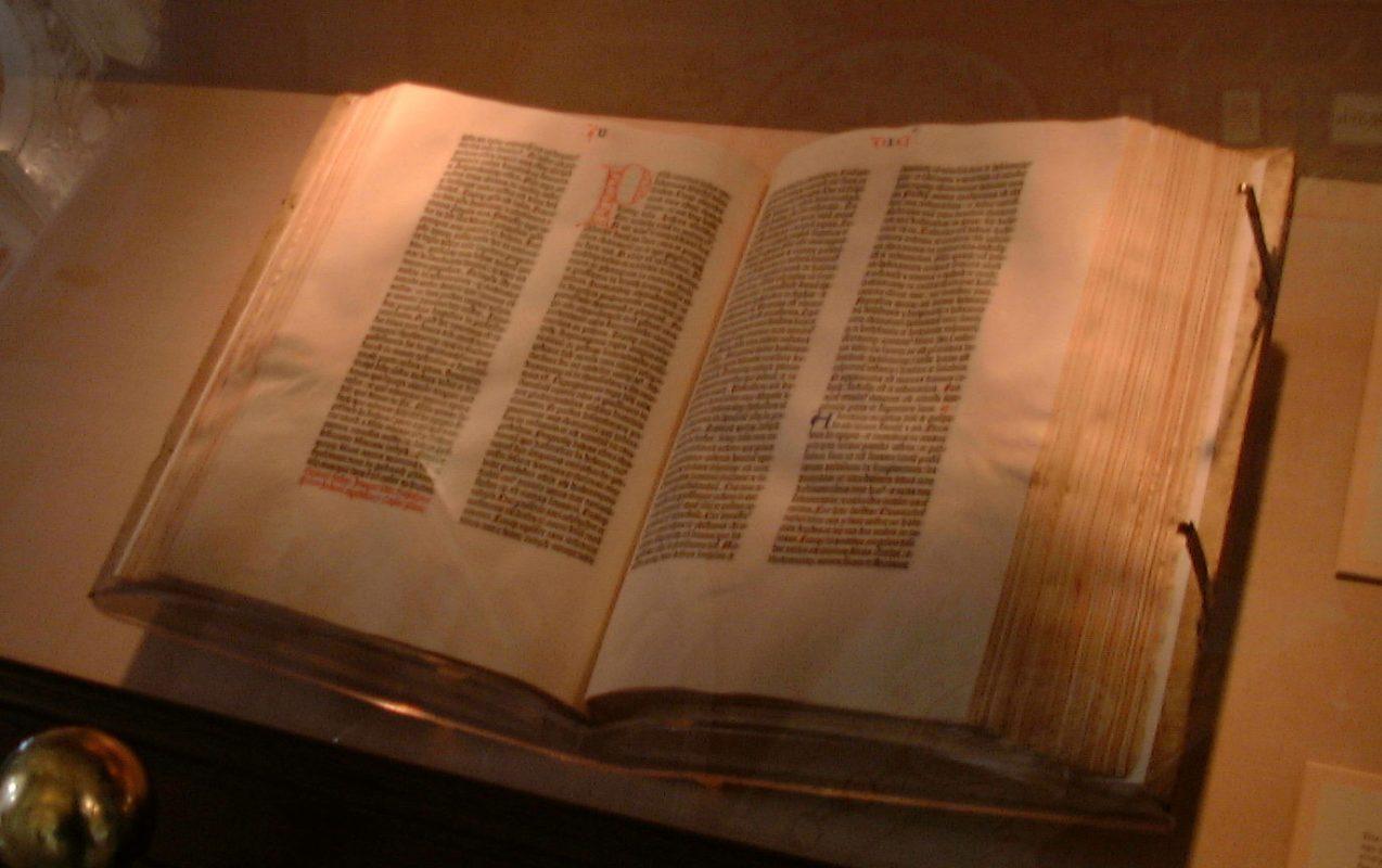 أقدم كتب في العالم : جوتنبرج الكتاب المقدس