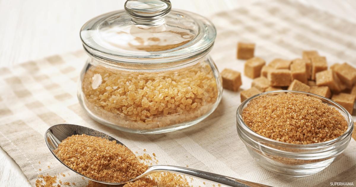 أنواع السكر البني