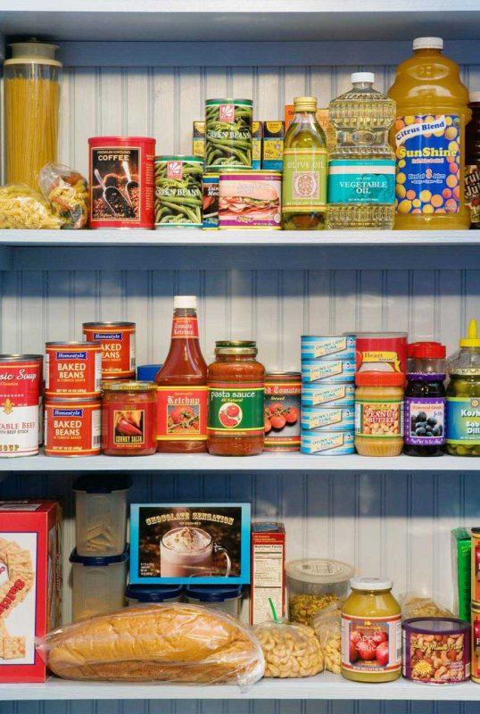 أهم المواد الغذائية أو موئن البيت التي تشملها مجموعة مؤون البيت