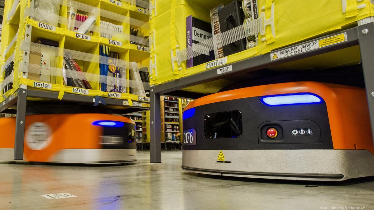 استخدام تكنولوجيا الروبوتات في متاجر و مخازن امازون