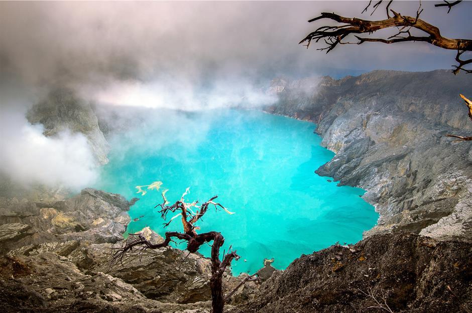 الأماكن الأكثر غموضاً في العالم : بركان كاوا اجين - اندونيسيا