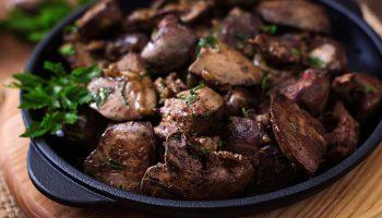 الكبدة من وجبات الكيتو دايت