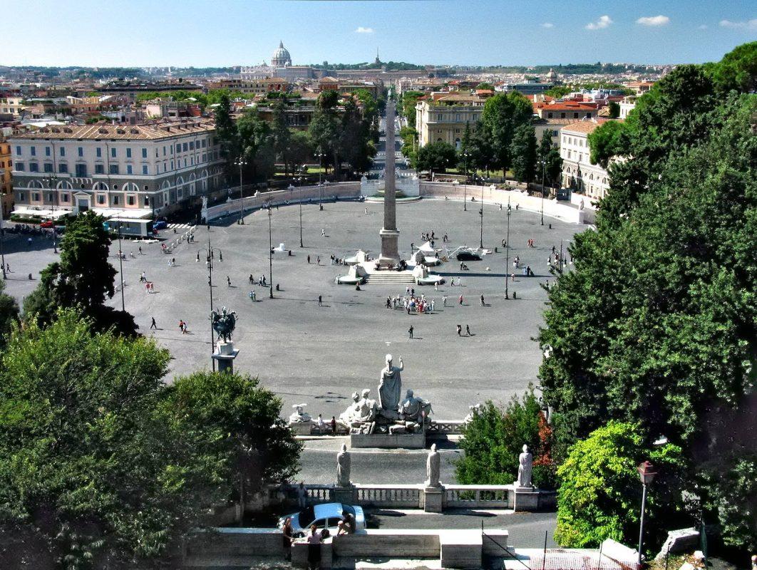أفضل الأماكن السياحية في روما : ساحة بيازا ديل بوبولو
