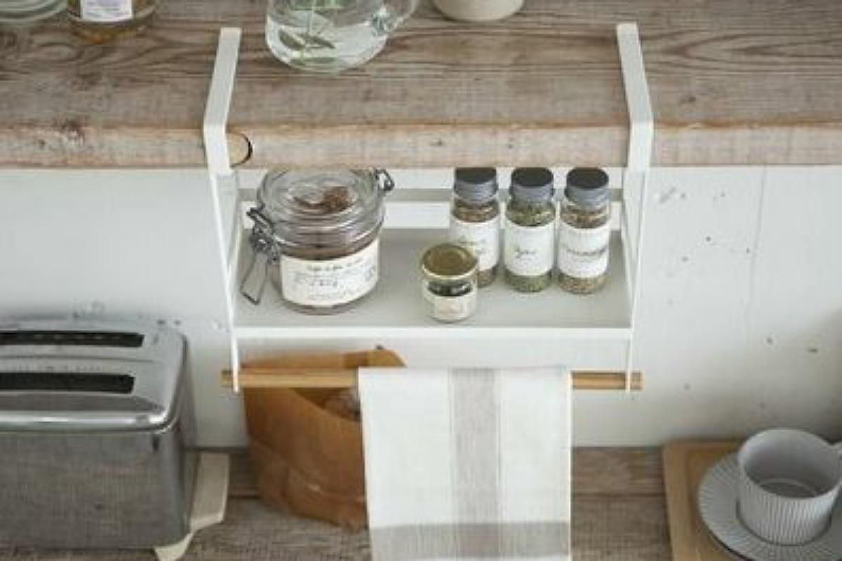 أدوات تنظيم المطبخ : الرف المعلق