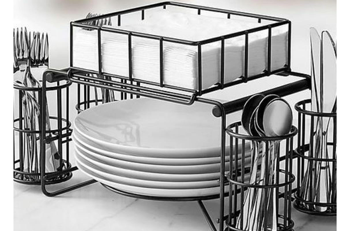 أدوات تنظيم المطبخ : حامل أدوات العشاء
