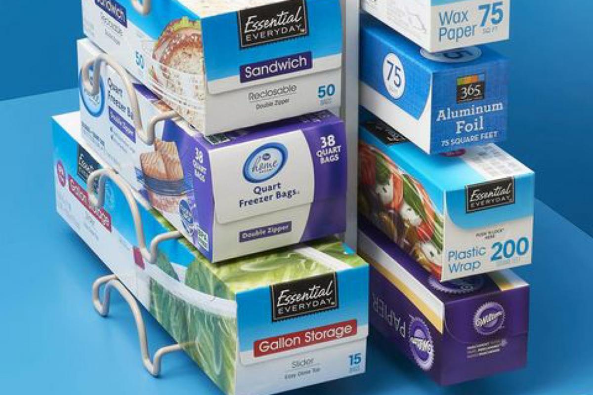 حامل منظم للمناديل و ورق القصدير و ورق التغليف البلاستيك