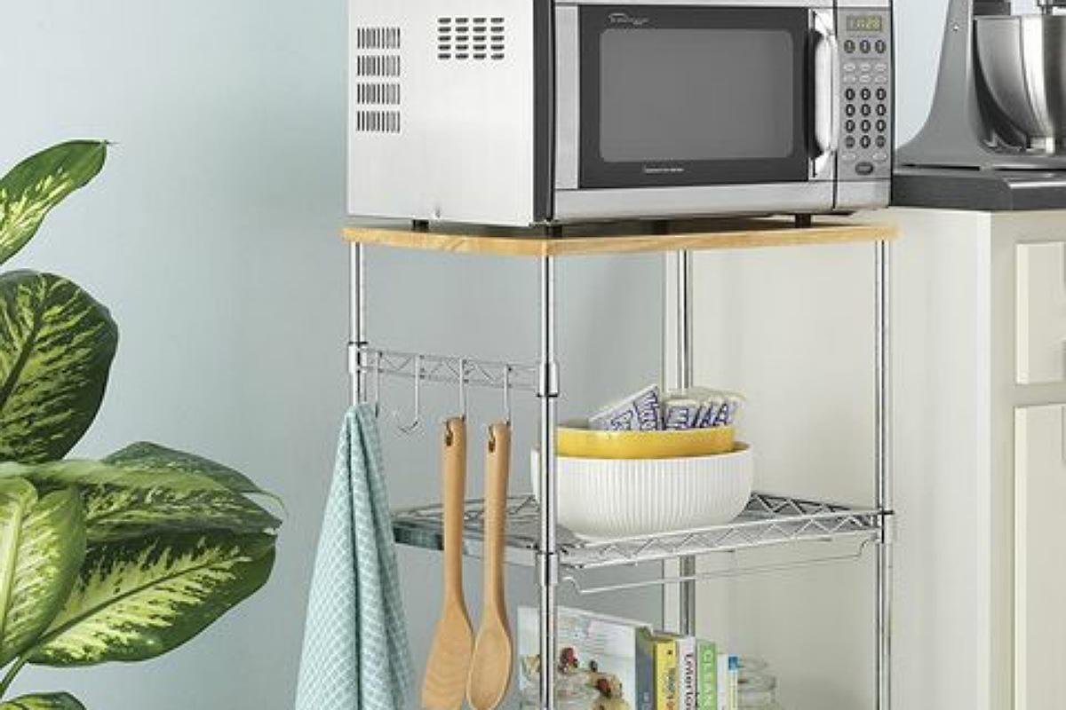 أدوات تنظيم المطبخ : حامل الميكروويف المتحرك
