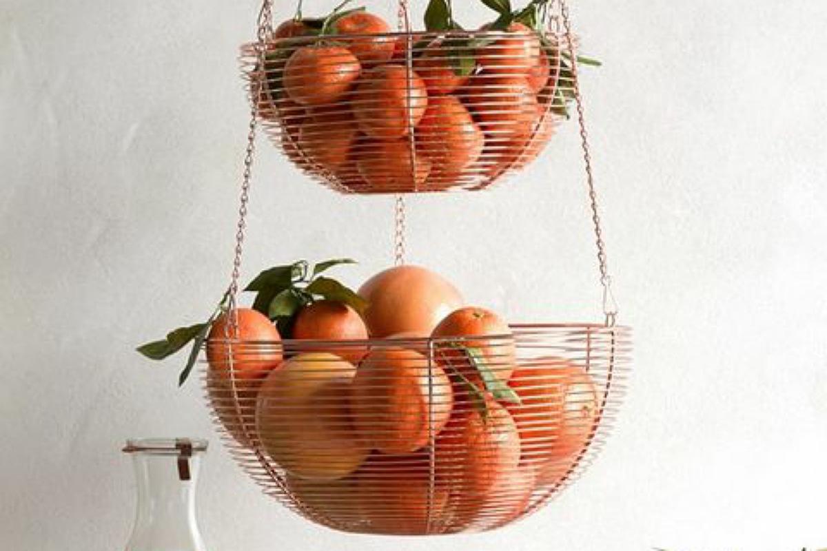 أدوات تنظيم المطبخ : سلة الفاكهة المعلقة