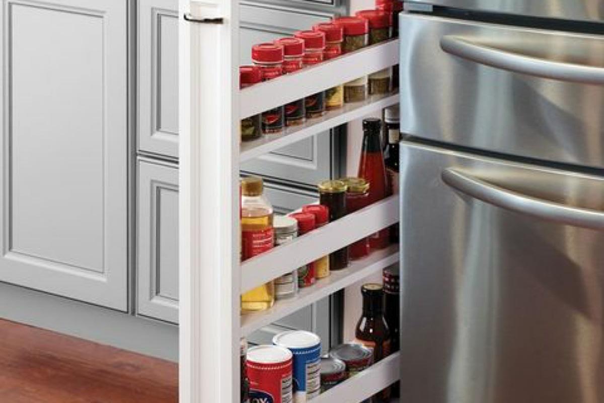 أدوات تنظيم المطبخ : منظم المطبخ الرفيع