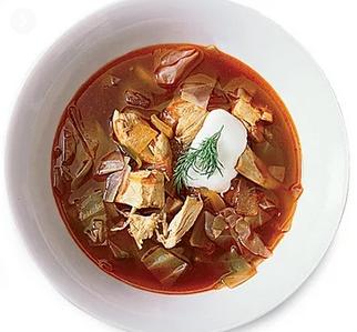 حساء الدجاج من أشهي أنواع الحساء الأوكراني