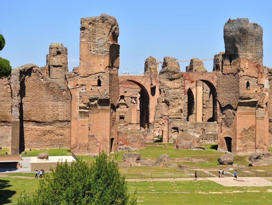 أفضل الأماكن السياحية في روما : حمامات كركلا