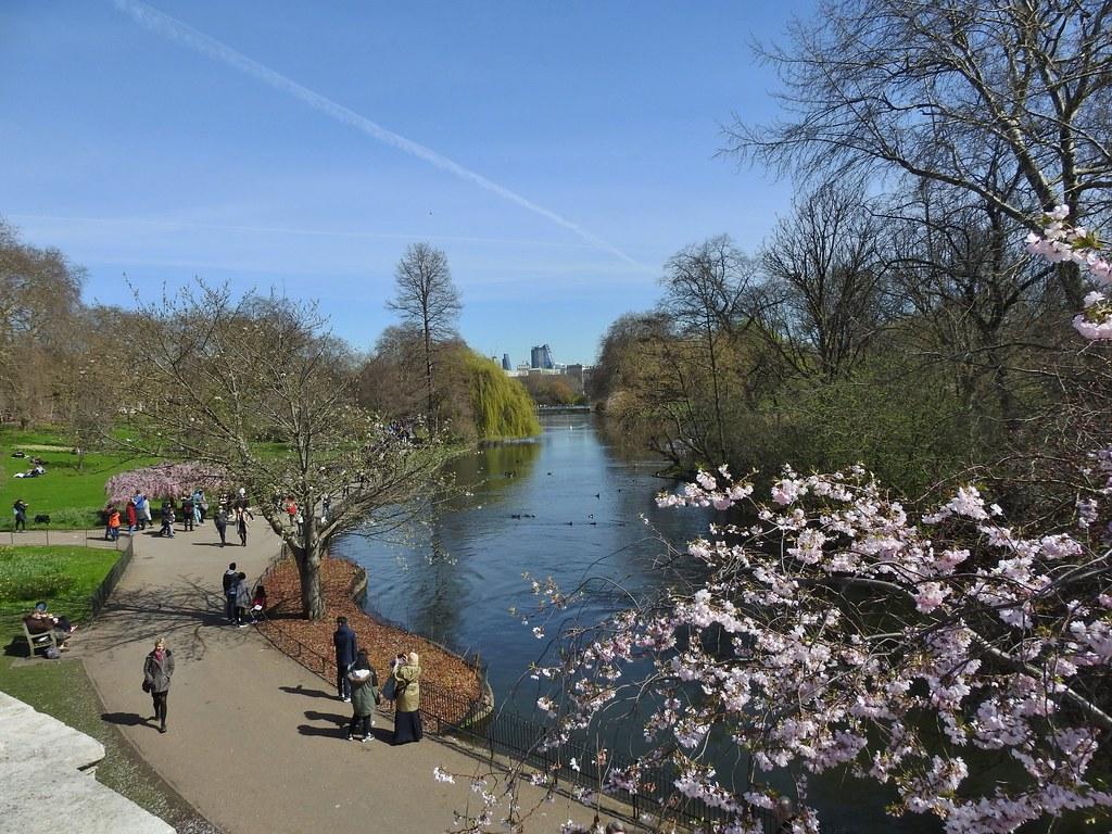 سانت جيمس بارك من أشهر الأماكن السياحية في لندن انجلترا