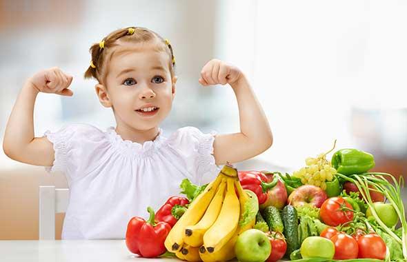 فوائد الأكل الصحي للأطفال