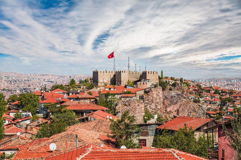 قلعة أنقرة من أفضل المعالم السياحية في أنقرة