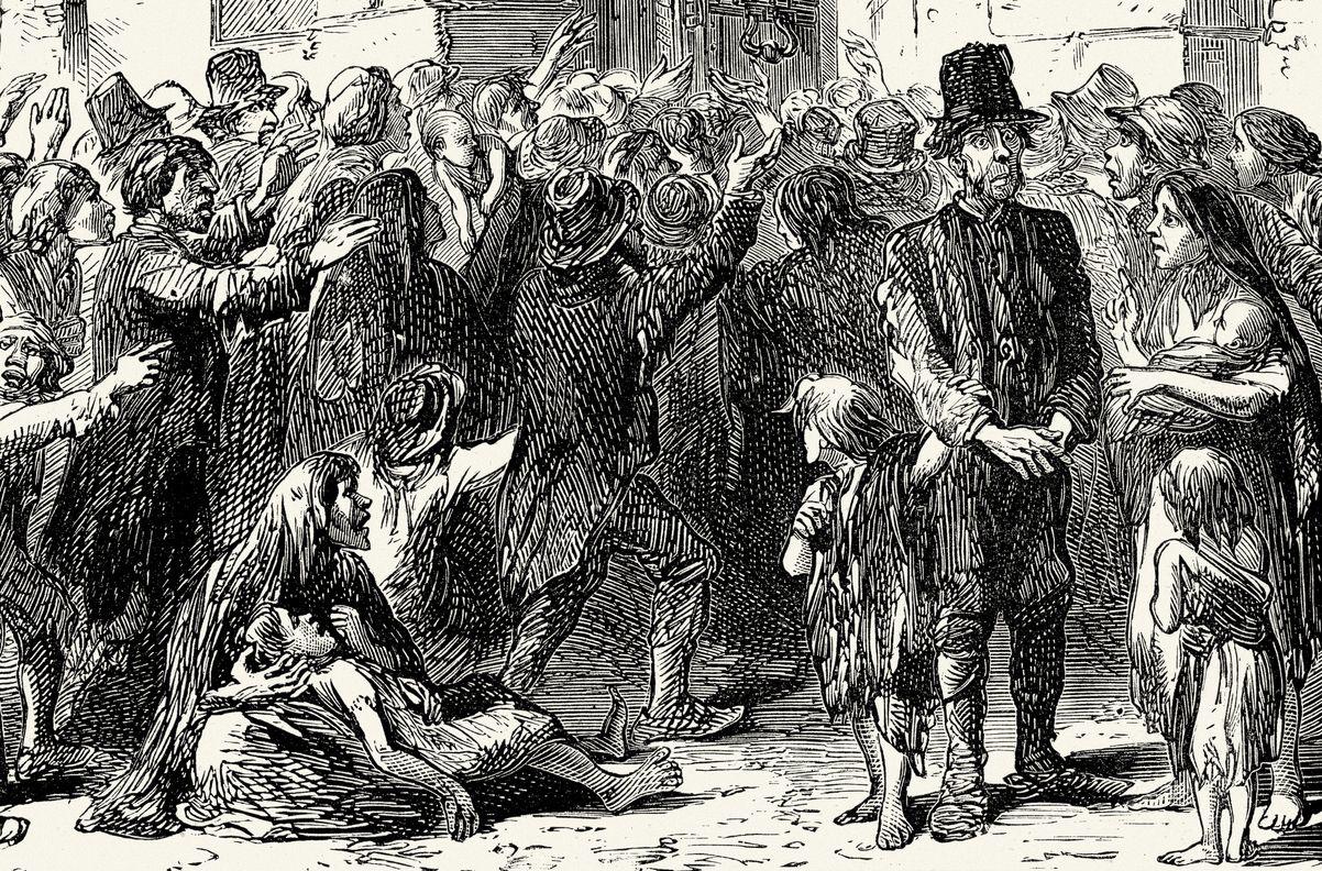 مجاعة البطاطس الأيرلندية و بدأ الجوع العظيم