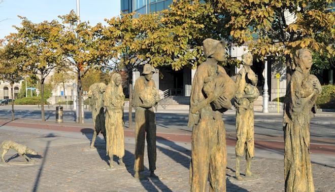 نصب تذكارية للمجاعة الأيرلندية