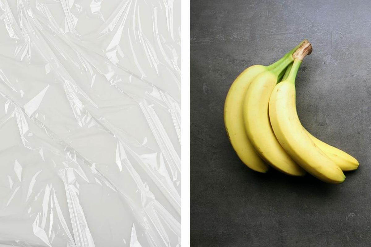 غلاف الطعام البلاستيكي لإبقاء الموز طازجاً