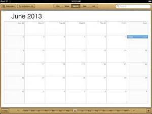 تقويم أو روزنامة آيباد