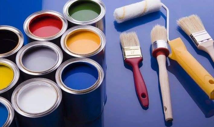 الخامات والأدوات  دهان حوائط منزلك بنفسك