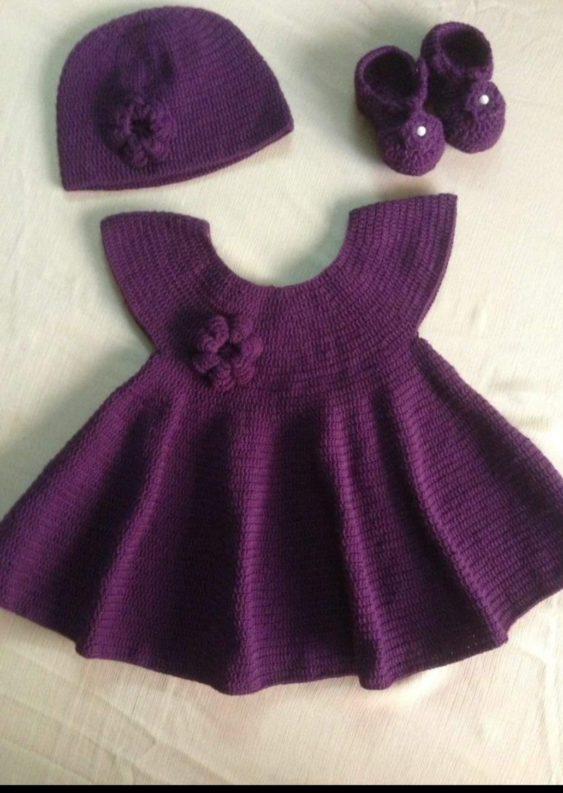 ملابس حديثى الولادة من الكروشيه