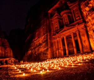 Petra-Jordan-At-Night
