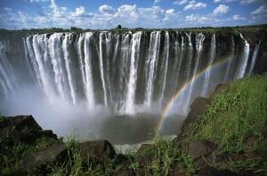 المياه الهائجة من نهر زامبيزي راش شلالات فيكتوريا
