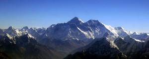 منظر جوي لجبل ايفرست من الجنوب
