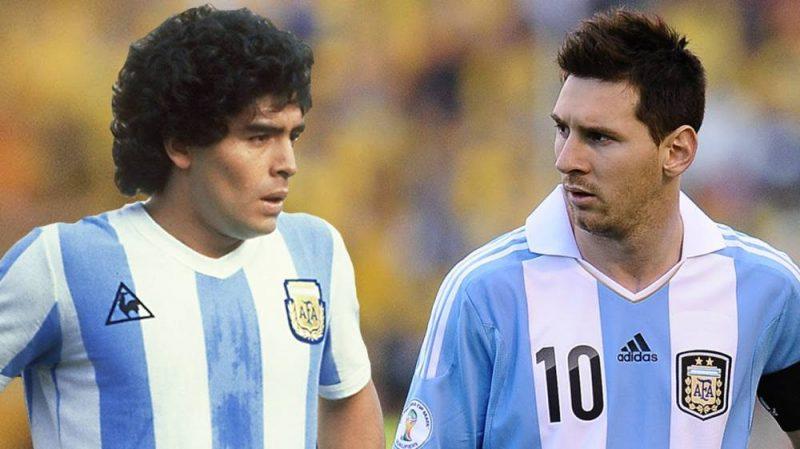 منتخب الأرجنتين ميسي و ماردونا