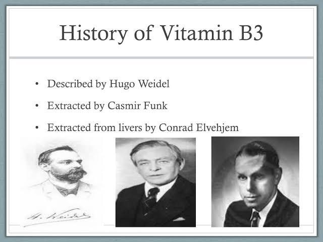 تاريخ فيتامين B3