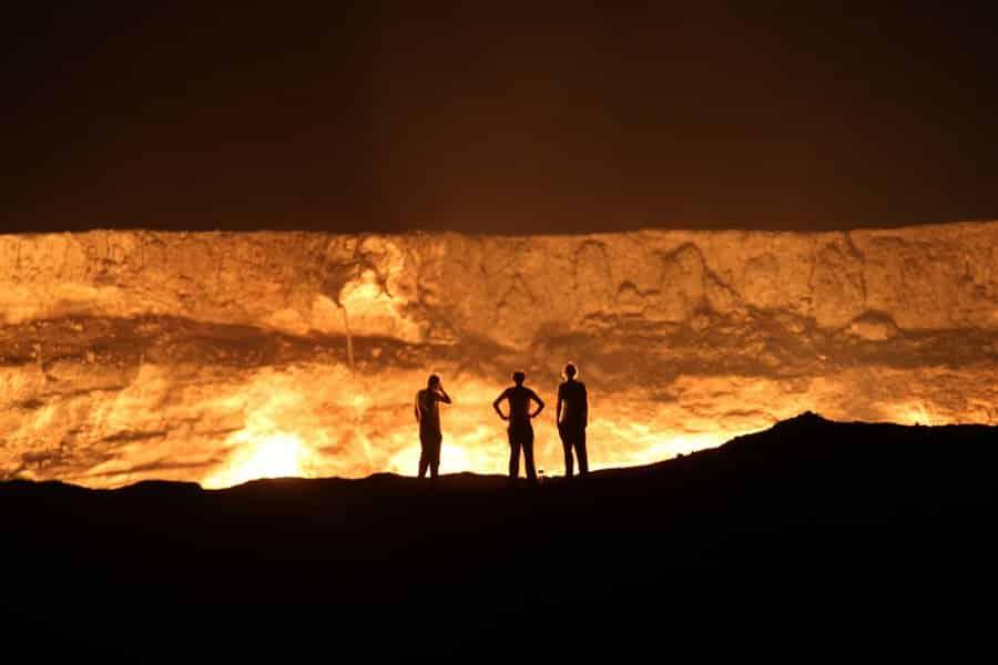 صورة بوابة الجحيم فى تركمانستان 11